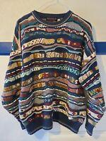 RETRO Bandini Le Collezioni Mens Coogi Style 3D Texture Sweater Biggie Cosby L