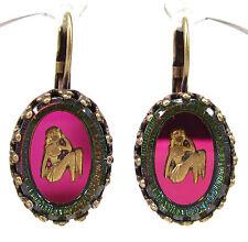 SoHo® Ohrhänger Ohrringe Sternzeichen Jungfrau vintage bohemia Glas oval bronze