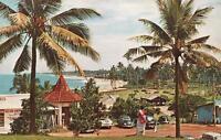 VINTAGE MOUNT LAVINIA BEACH RESORT SRI LANKA PALM TREES & BEACH POSTCARD