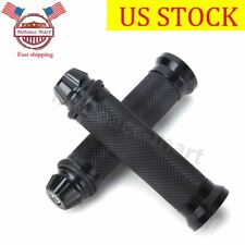 "BLACK MOTORCYCLE 7/8"" HAND GRIPS HANDLE BAR GEL FOR YAMAHA YZF R6 HONDA CBR 600"