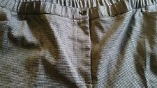 NWT - Catherines Secret Slimmer Classic Black Checked Pants - 30 W Petite