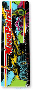 Moon Patrol Arcade Sign, Classic Arcade Game Marquee, Game Room Tin Sign A504