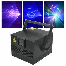 DMX 3W ILDA RGB Animation Scan fullcolor DJ Party Stage Laser Projector Light US