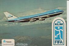 Postcard 46 - Decal/Sticker Plane/Aviation KLM Fifa