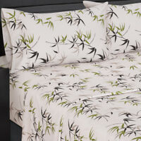 Ultra Soft & Smooth Genuine 100% Plush Cotton Floral Fern Percale Sheet Set