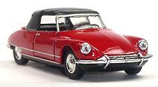 Citroen DS 19 rot Cabrio geschlossen Modellauto 1:37 WELLY Spritzguss ca. 12cm