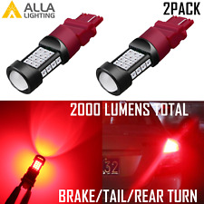 AllaLighting 3157 Brake/Tail Light Bulb,Rear Turn Signal Blinker Lamp,Bright Red