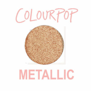 ColourPop Pressed Powder Eye Shadow Pan - 20 SOMETHING - metallic peachy gold