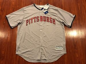 Majestic Men's Pittsburgh Pirates Independence Day July Authentic MLB Jersey XL
