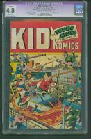 Kid Komics #7 CGC 4.0 Nazi war Schomburg WW2 cover