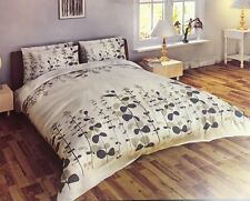 SUPER KING SIZE COMPLETE SET MULTI FLORAL GREY WHITE 100% POLYESTER BEDDING