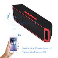 Bluetooth Enceinte Haut-parleur Sans Fil Stéréo Subwoofer USB AUX FM MP3 TF