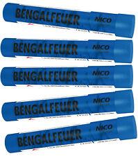 Bengalfeuer/Bengalos in Blau / 5 St. Gesamt