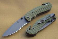 Couteau Browning Duration Tactical Rescue Acier Inox/Titane Manche G-10 BR174BL