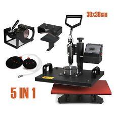 5IN1 PRESSE à Chaud Machine à transfert 38x38CM plaque Cap Multifonctionnel Swing Premier