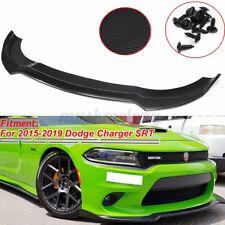 Front Bumper Lip Splitter Spoiler Carbon Fiber Style For Dodge Charger SRT 15-19