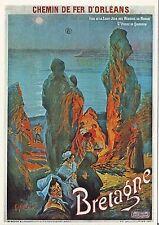Carte Postale Repro Affiche Ferrovière Mopenot - Bretagne St Pierre de Quiberon