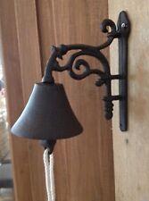 Türglocke Glocke Landhaus Klingel antik Gusseisen rostfarben Gartenglocke