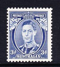 AUSTRALIA 1937-49 3d BLUE 'WHITE WATTLES' SG 168a MINT.