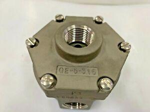 "QE-5-316 VERSA Pneumatic Quick Exhaust Valve Stainless Steel 1/2"" NPT"