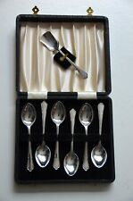 Vintage silver plated teaspoon set
