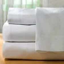 "3 NEW HOTEL QUEEN SIZE FITTED SHEET PREMIUM BED SHEETS 60''X80''X12"" T200 CVC"