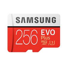 Samsung EVO Plus 256GB MicroSD Micro SDXC C10 U3 Flash Memory Card w/ SD Adapter