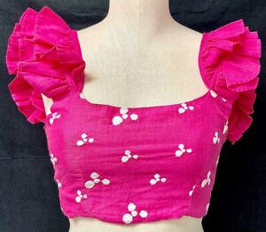 All Things Mochi Women's Coney Printed Ruffle Crop Top - Size XS - NWT