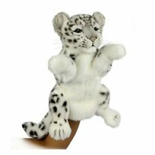 Snow Leopard Puppet Realistic Soft To Touch And Cuddle Perfect Gift (32cm H)