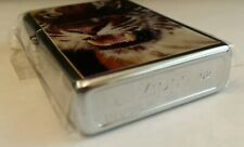 Rare Tiger Zippo Collectors Wildlife New MINT High Polished Chrome Man Eater