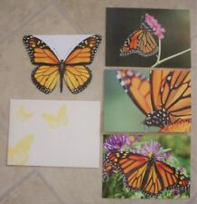 SET OF 10  BLANK MONARCH BUTTERFLY NOTE CARDS, NEW