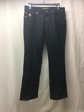 Dereon  Ladies Black Jeans Size 9/10 With Gold Embellishment- Awesome