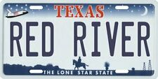 Red River Texas Aluminum License Plate