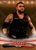 2019 Topps WWE Raw Wrestling Bronze Parallel Singles #1-90 (Pick Your Cards)