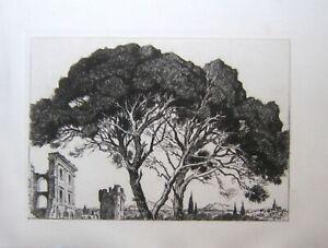 Gravure de M. Robert (v 1930) Montmajour. TBE  PROVENCE