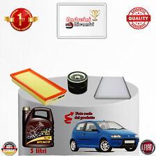 Filtres Kit D'Entretien + Huile Fiat Punto II 1.4 16V 70KW 95CV Du 2007->2010