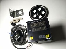 CG7-RB60 Preset Counter + E6B2-CWZ6C 360P/R Rotary Encoder + wheel + Holder Set