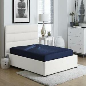 Quilted Top Bunk Bed Memory Foam Mattress 6 Inch Polyester Filled Full Size Blue