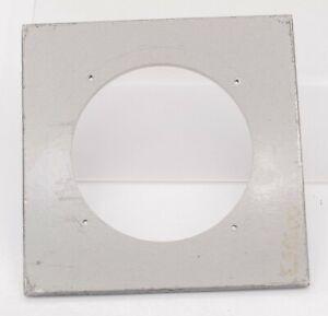"""Vintage - 4"""" x 4"""" 102mm² Calumet Large Format Camera Lens Board - 66mm Hole"""