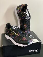 Reebok Opening Ceremony US Size 8.5 M 10.5 W Classic Black White Floral Sneakers