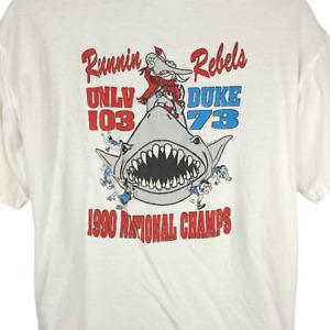 UNLV Runnin Rebels T Shirt Vintage 90s 1990 Champions Tark The Shark Size Medium