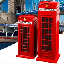 New Red Piggy Bank Money British Telephone Booth Kids Coin Saving Pot Box Alloy