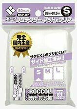 Broccoli Card Sleeves Clear & Mat S BSP-07 80pcs yugioh Cardfight Vanguard