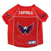 NEW WASHINGTON CAPITALS DOG PET PREMIUM JERSEY w/NAME TAG LE