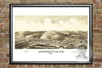 Old Map of Johnsonville, NY from 1887 - Vintage New York Art, Historic Decor