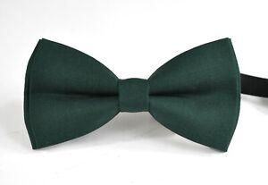 Dark Emerald Bottle Green Cotton Bow tie for Men / Teenge / Boy Kids / Baby