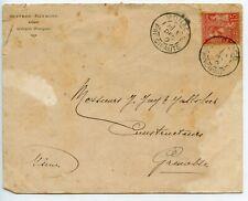 LETTRE ENVELOPPE MONACO POUR GRENOBLE 1900