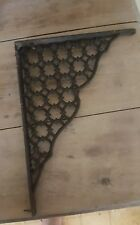 Vtg Wrought Iron Architectural Accent Piece Corner Bracket