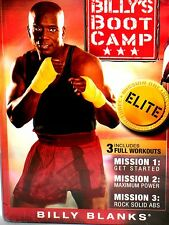 Billy's Blanks Boot Camp Elite 2 DVD BOX MISSION 1-3 ,WORKOUT ABS $24 FREE SHIP