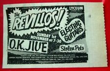 "Revillos/Electric Chairs Gig Vintage ORIG 1981 Press/Magazine ADVERT 4""x 2.5"